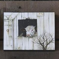 If you love simplicity than this Ruth Lorentzen piece is for you! It captures the beauty of this Hereford cow looking right at you.