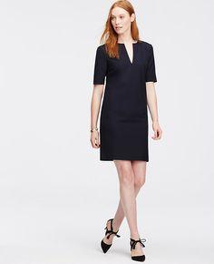 sleeve length of All-Season Stretch Split Neck Shift Dress