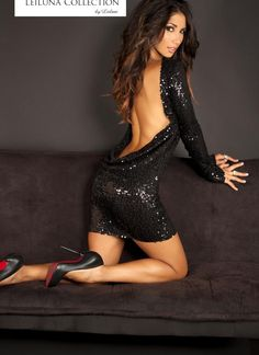 backless and sequins. The ultimate party combo. Leilani Dowding