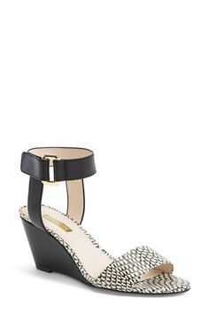 Louise et Cie 'Phiona' Leather Ankle Strap Wedge Sandal (Women) | Nordstrom