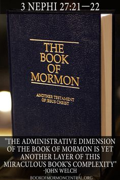 Was the Book of Mormon Used as the First Church Administrative Handbook? Book Of Mormon Play, Book Of Mormon Quotes, Book Of Mormon Scriptures, Book Of Mormon Stories, Lds Books, Lds Quotes, Religious Quotes, Religious Studies, Scripture Mastery