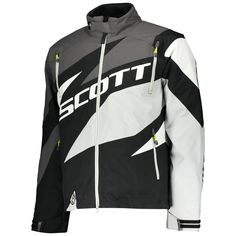 Scott COMPR Jackets (BLK/GRY). *DRYOsphere Technology**Insulation 160g**Removable Lining**SnowCuff** Insulation, Motorcycle Jacket, Snow, Technology, Jackets, Fashion, Down Jackets, Moda, Tech