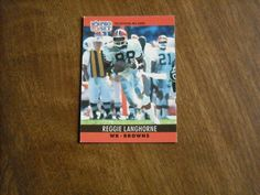 Reggie Langhorne Cleveland Browns WR Card No. 73 (FB73) 1990 NFL Football Card - for sale at Wenzel Thrifty Nickel ecrater store