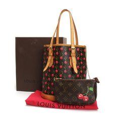 Louis Vuitton Bucket PM Monogram Cherry Shoulder bags Brown Canvas M95012