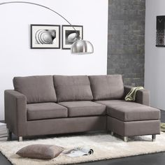 Dorel Living Small Spaces Right Hand Facing Sectional
