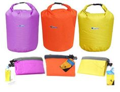 Suitable for survival, camping, drifting, hiking and other outdoor activities. Specifications: Color: Orange Purple Green Material: Terylene Capacity: 20L 40L 70L Package list: 1 * Waterproof bag