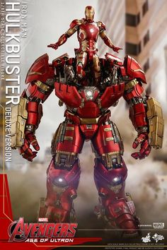 Avengers: Age of Ultron scale Hulkbuster (Deluxe Version) Figure From Hot Toys Iron Man Avengers, Avengers Age, Marvel E Dc, Marvel Films, Marvel Characters, Marvel Comics, Iron Man Hulkbuster, Hot Toys Hulkbuster, Iron Man Suit