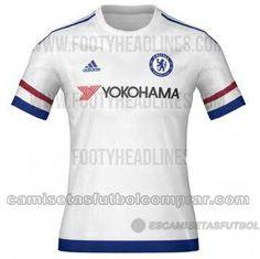 5eea56955d Camiseta del Chelsea 2ª Equipación 2015 2016  http   www.camisetasfutbolcomprar.