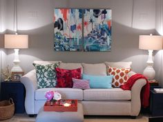 Crafty Design Creates Balance in Contemporary Living Room - on HGTV
