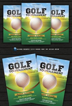 Golf Flyer  Golf Tournament  In