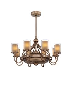 Global Views Lamps and Lighting French Curve Chandelier