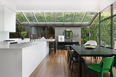 #kitchen #white #timberfloors