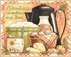 Lang February 2014 Wallpapers: Abundant Friendship calendar by Diane Knott Country Paintings, Decoupage Paper, Country Art, Paper Tags, Kitchen Art, Food Illustrations, Painting On Wood, Food Art, Illustrators