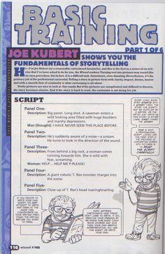 Scan from Wizard Magazine 142. Basic Training: Part 1 of 6 Joe Kubert shows the fundamentals of storytelling. p116