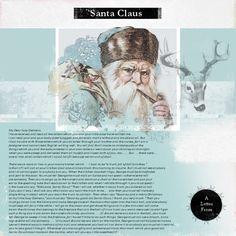 A Letter From Santa Claus #designerdigitals #scrapbook