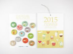 2015 Cocktail Recipe Calendar with Magnets: Wall Calendar and Set of 12 Magnets