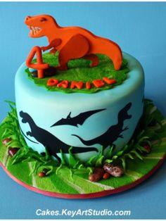Homemade Dinosaur Cake | dinosaur cake by keyartstudiocakes a small cake to selebrate a little ...