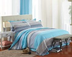 Cotton Blend Well Designed Print Pattern Duvet Cover Sets with Pillow Shams Full Queen Size -   - http://homesegment.com/home-kitchen/cotton-blend-well-designed-print-pattern-duvet-cover-sets-with-pillow-shams-full-queen-size-com/