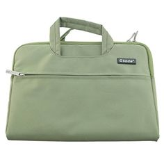 OKADE Portable Hand Bag for Ultrabook Macbook Ipad notebook Computer Sleeve Business Briefcase 133 inch inner size 33525025mm Green Color * See this great product.