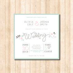 fresh & whimsical wedding invitation