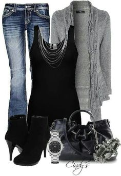View our simplistic, relaxed & effortlessly lovely Casual Fall Outfit inspiring ideas. Get motivated with your weekend-readycasual looks by pinning one of your favorite looks. casual fall outfits with jeans Mode Outfits, Night Outfits, Casual Outfits, Fashion Outfits, Womens Fashion, Fashion Trends, Ladies Fashion, Fashion Ideas, Fashionista Trends