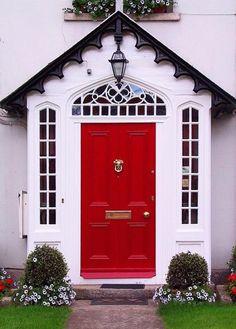 red exterior wood door paint