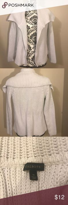 Cozy white sweater Very thick knit . Great to throw on Talbots Sweaters Cardigans