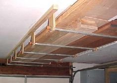 Use of the ceiling to store wood The removable pipe/conduit is a big improvement over many other systems.