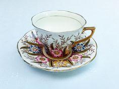 Vintage Rosina Fine English Bone China Teacup & Saucer