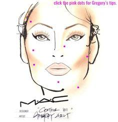 Contour: An Interactive Makeup Contouring Face Chart by MAC's Gregory Arlt Makeup 101, Mac Makeup, Makeup Ideas, Makeup Tutorials, Contour Makeup, Contouring And Highlighting, Gorgeous Makeup, Love Makeup, Square Face Makeup