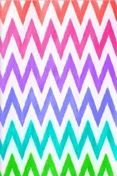 Rainbow Chevron Wallpaper Pattern Backgrounds Ipod Iphone