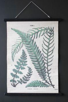 Botanical Ferns Canvas Wall Hanging