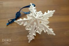 Star-shaped three-dimensional effect Openwork Christmas tree ornaments made of paper - DIY: Sterne basteln in Eiskristall-Optik Deko-Kitchen
