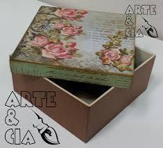 Resultado de imagen para caixas de mdf decoradas com stencil