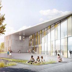 Herningsholm Vocational School by C.F. Moller Architects in Herning, Denmark