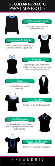 Escote y collar