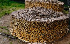 Wood for the winter I don't need that much of it but it is so beautifully stacked!!