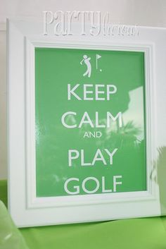 This would be super cute for a golf party