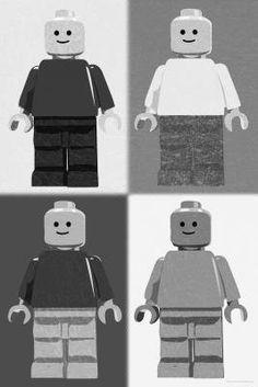 Lego Minifigure Man Quad Black White Pop-Art Poster - 11x17 by Poster Revolution, http://www.amazon.com/dp/B0071DLCRY/ref=cm_sw_r_pi_dp_Saz4qb0FC6K3X