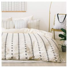 Gray Holli Zollinger French Tribal Stripe Duvet Cover Set (Twin XL) – Deny Design duvet coverGone are the days when decorating was a o. Home Decor Bedroom, Master Bedroom, Bedroom Ideas, Bedroom Furniture, Furniture Nyc, Bedroom Designs, Bedding Decor, Bedroom Curtains, Bedroom Plants