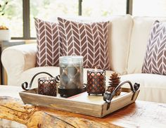 Versatile trays, vases and throw pillows make for easy decorating and keep your everyday style, IN style.