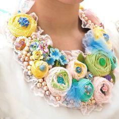 Flower Necklace Handmade-ideas. Discussion on LiveInternet - Russian Service Online Diaries