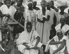 Picture of a group of elders and their chief in Nayagnia, Ghana