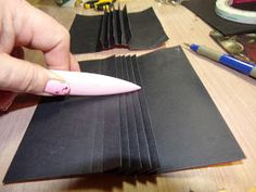 Put the Glue Down: Reinforced Strong Handmade Scrapbook or Mini Album Book Binding using the STACKED DECK HIDDEN HINGE - Photo Tutorial