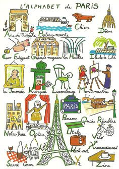 Alphabet de Paris- I totally want to make one of these in Spanish for my classroom!