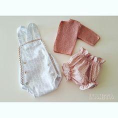 Ranita, pololo y chaqueta de perlé handmade. L'Anita