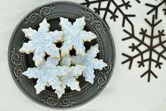How to create icy effect on cookies  Icy Snowflake Cookies