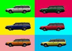 Volvo 245 pop art