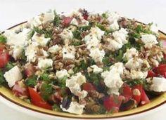 Вкусный летний салат с баклажанами