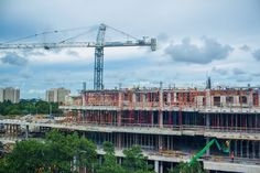 Construction of the Lennar Foundation Medical Center, located on the Coral Gables campus, makes headway as completion is projected for Fall of 2016.